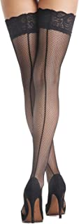 Amoretu Sexy Classical Lace Top Fishnet Thigh High Mesh Stockings