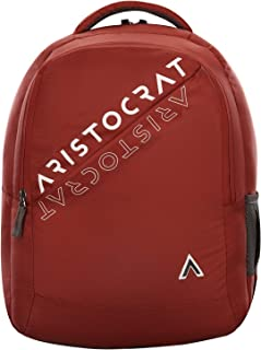 Aristocrat 27 Ltrs Red Casual Backpack (Trax)