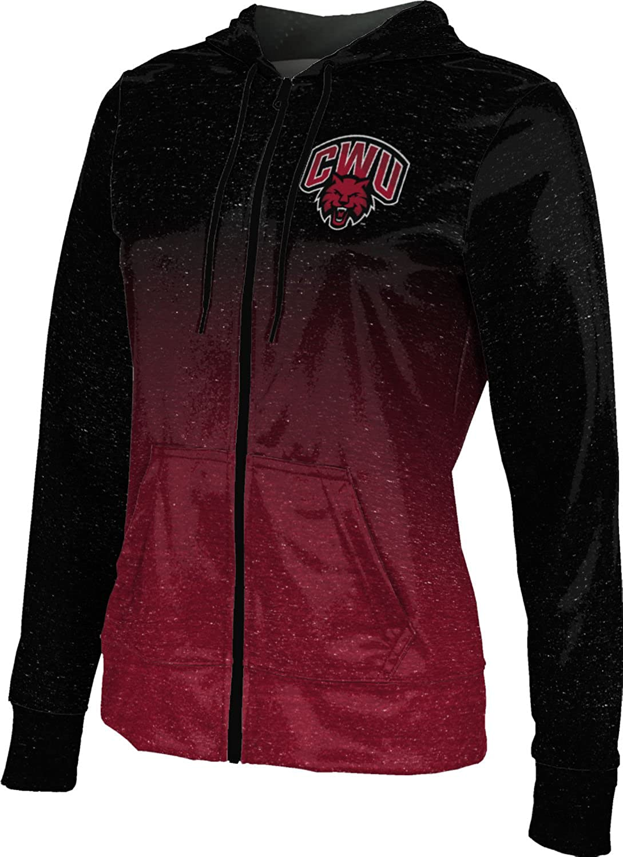 ProSphere Central Washington University Girls' Zipper Hoodie, School Spirit Sweatshirt (Ombre)