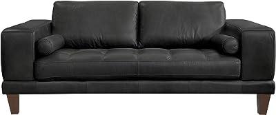 Wynne Love Seats, Black Leather