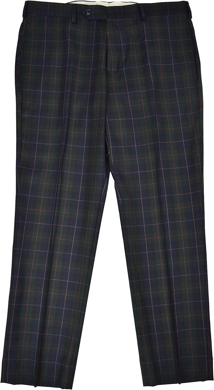 Brooks Outlet ☆ Free Shipping Brothers Mens Regent Fit Flat Pants Dress Nashville-Davidson Mall Front 100% Wool