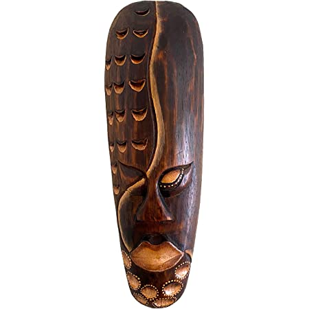 Amazon Com African Mask Wall Hanging Decor For Love Fortune Wooden Hand Crafted Tiki Mask Home Decor Gift 12 Love Fortune Clothing