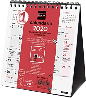 Finocam - Calendario de Sobremesa 2020 Escribir Español, Xs - 140X150 mm
