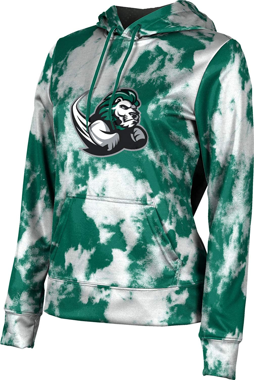 Slippery Rock University Girls' Pullover Hoodie, School Spirit Sweatshirt (Grunge)