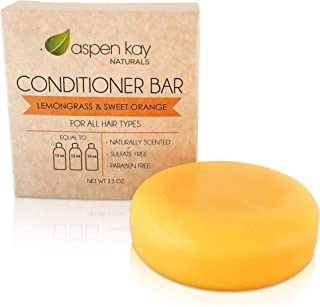 Solid Conditioner Bar, Made With Natural & Organic Ingredients, All Hair Types, Sulfate-Free, Cruelty-Free & Vegan 2.3 Oun...