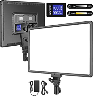 Neewer Super Slim LED Video Light Soft Lighting 40W 3200K-5600K CRI95+ Dimmable LED Panel with LCD Display, Camera Camcord...