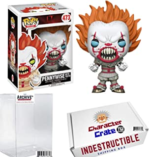 Funko Pop! IT Pennywise With Teeth, Limited Edition Exclusive, Concierge Collectors Bundle Vinyl Figure