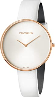 Calvin Klein Womens Analogue Quartz Watch with Leather Strap K8Y236L6