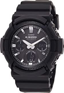 Casio G-Shock Men's Watch in Resin/Stainless Steel with Auto LED Light and Solar Power - Shock Resistant