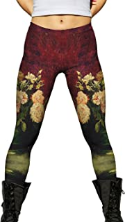 Van Gogh -Bowl with Roses (1886) -New Ladies Womens Leggings