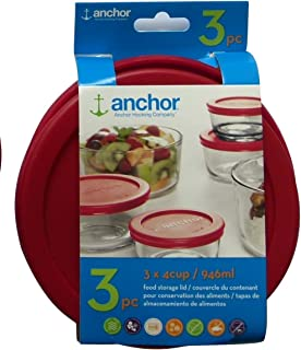 Anchor Hocking 11763L20 Replacement Lid, 4 Cup, Red
