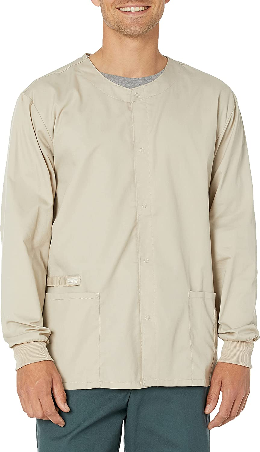 Cherokee Men's Ww Flex with New Orleans Mall Mesa Mall Snap Front Unisex Warm-up Certainty