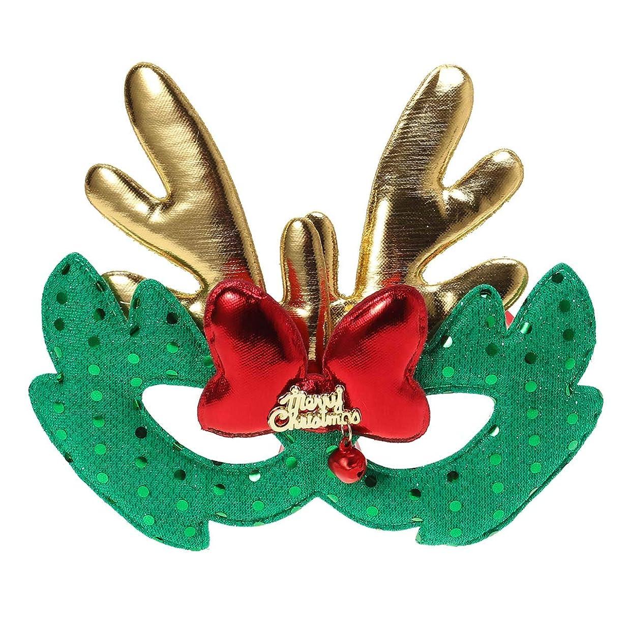 ページェント有名ほこりBESTOYARD エルククリスマスコスチュームマスク布マスク子供大人コスプレクリスマスパーティーグリーン