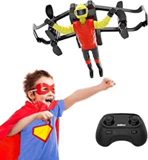 SANROCK Small Drone for Kids and Beginners, RC Nano Quadcopter Quadcopter with Altitude Hold, Headless Mode, 3D Flips, One Key Return and Speed Adjustment, Great Toys for Boys and Girls (Flying Man)