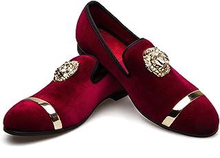 Sponsored Ad - Meijiana Men's Loafers Velvet Shoes Metal Eagle Buckle Wedding Party Smoking Slipper Dress Loafers Shoes fo...