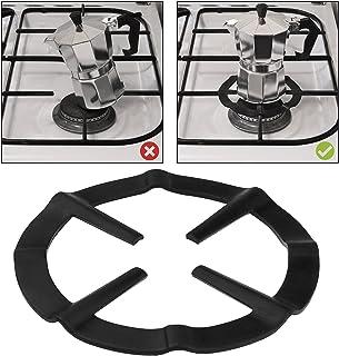 AMOS Reductor de Fogón Anillo Rejilla de Estufa Cocina de Gas Salvamanteles Soporte para Cafeteras Espresso Sartenes Ollas (Negro)