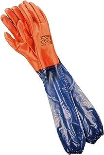 REIS Guantes Extra Largos Resistente al Aqua - EN420 y EN388 - Tamaño: 10,5 - Guante de Trabajo - Rojos