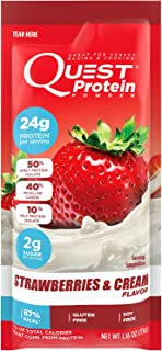 Quest Nutrition Protein Powder, Strawberries and Cream, 28g (Pack of 12)