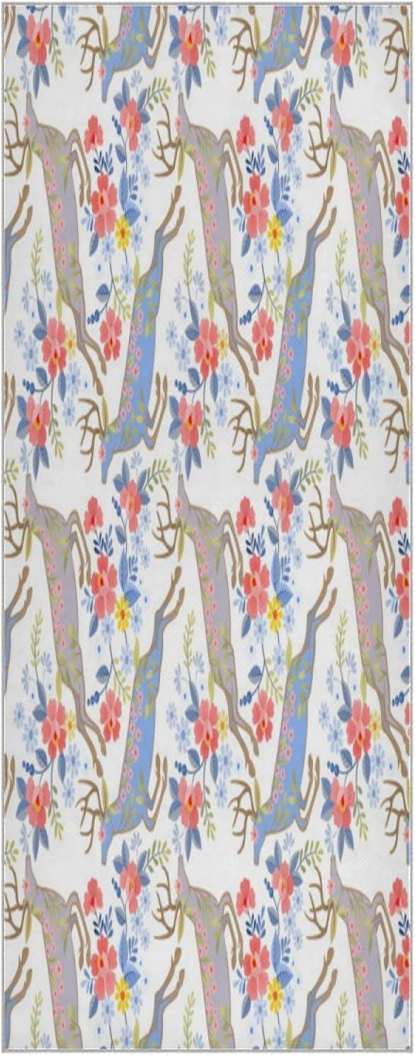 73 Cheap mail order shopping Inch Yoga Mat Towel Floral Non Flower Vintage Folda Slip Popular product Deer