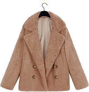 New Winter Warm Soft Teddy Bear Coat Jacket Women Coat Button Jacket Overcoat