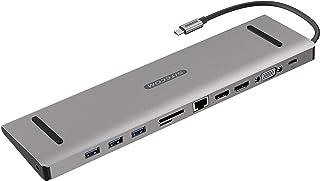 Sitecom CN-389 USB-C Multiport Pro Dock   USB-C to 3x USB 3.1 + 2x HDMI + 1x VGA + 1x Gigabit LAN + 1x SD/Micr-SD card rea...