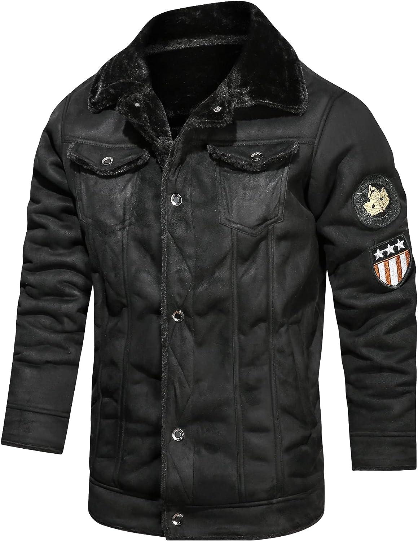 Nightborne Mens Leather Jacket Windbreaker
