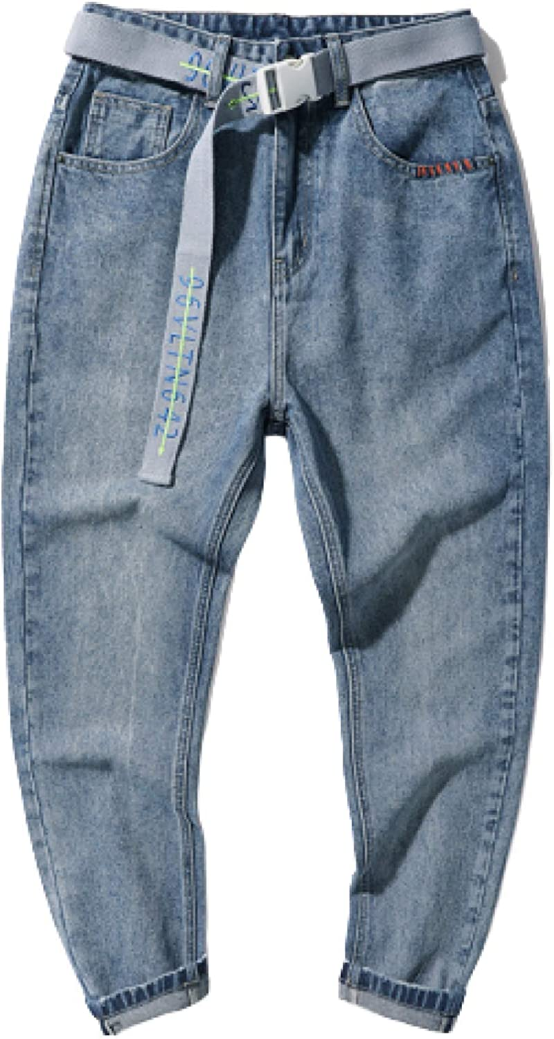 Men's Loose Fit Jeans Spring and Summer Washed All-Match Loose Straight