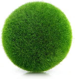 Techinal 1Pcs Artificial Decor, Moss Balls Potted Pot, Fake Grass Plant for Aquarium & Garden & Home Decoration, Foam+Moss Fur