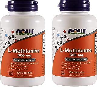 Now Foods L-methionine, 100 Capsules / 500mg (Pack of 2)