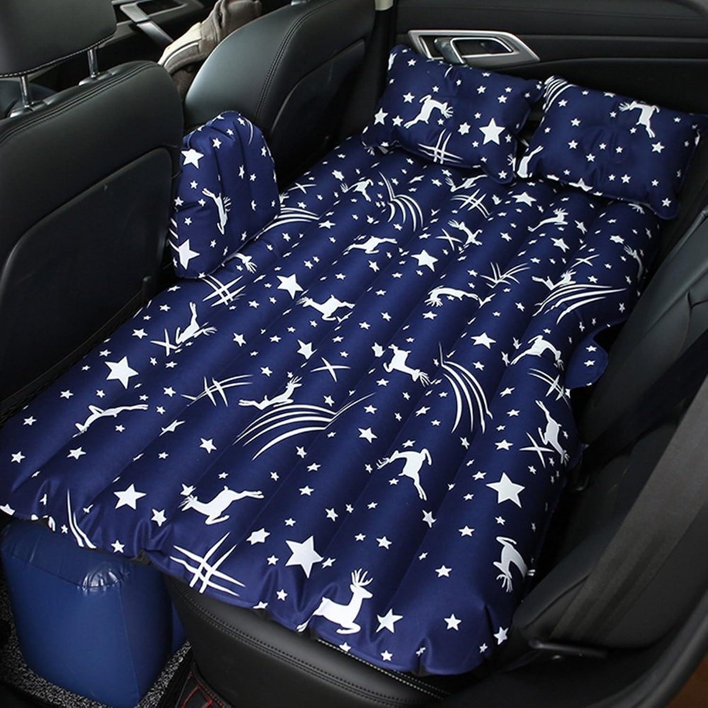ZXQZ Auto-aufblasbares Bett-faltbares Erwachsenes Reise-Luft-Bett-Auto im Freien Stoßfestes Bett-Kinder-Anti-Fall-aufblasbares Bett Aufblasbares Bett (Farbe   Blau) B07G1473JX  Schnäppchen