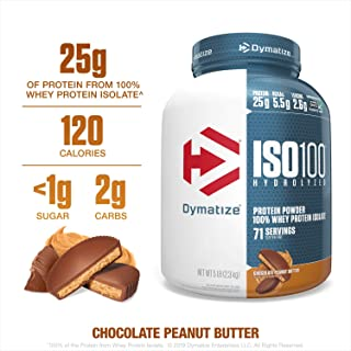 Dymatize ISO100 Hydrolyzed Protein Powder, 100% Whey Isolate Protein, 25g of Protein,..