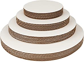 Round Cake Boards By Pro Dispose – Set Of 24 White Cake Circles – 6 Of Each Size Cake Rounds (6, 8, 10 & 12 Inches) – Ideal For Cake Decorating & Multi-Tier Stacked Cakes – Slip Resistant & Food Safe