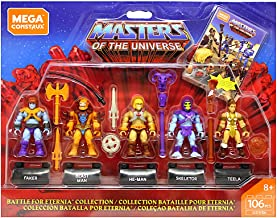 CONSTRUX Masters of The Universe Battle for Eternia Collection Mega Figure Set of 5 106 pcs