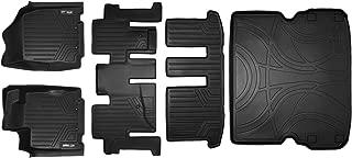 SMARTLINER Floor Mats 3 Rows and Cargo Liner Behind 2nd Row Set Black for 2013-2019 Pathfinder / 2013 JX35 / 2014-2019 QX60
