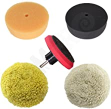 """Rampro 3"""" Car Buffing and Wax Polishing Pad Kit – Drill Attachment Tool with.."""