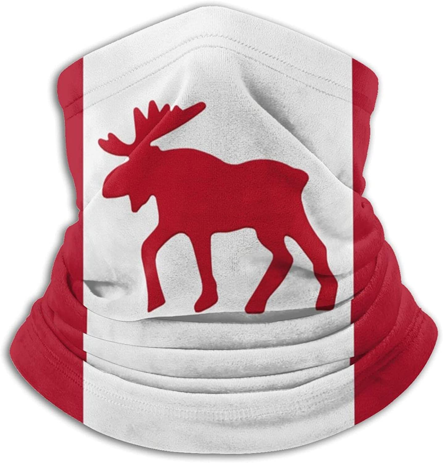 Canada moose flag canadian maple leaf unisex winter neck gaiter face cover mask, windproof balaclava scarf for fishing, running & hiking