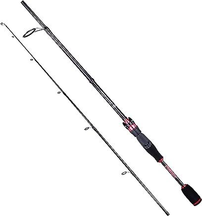 PLUSINNO 2pc Spinning Fishing Rod, Graphite Travel Medium...