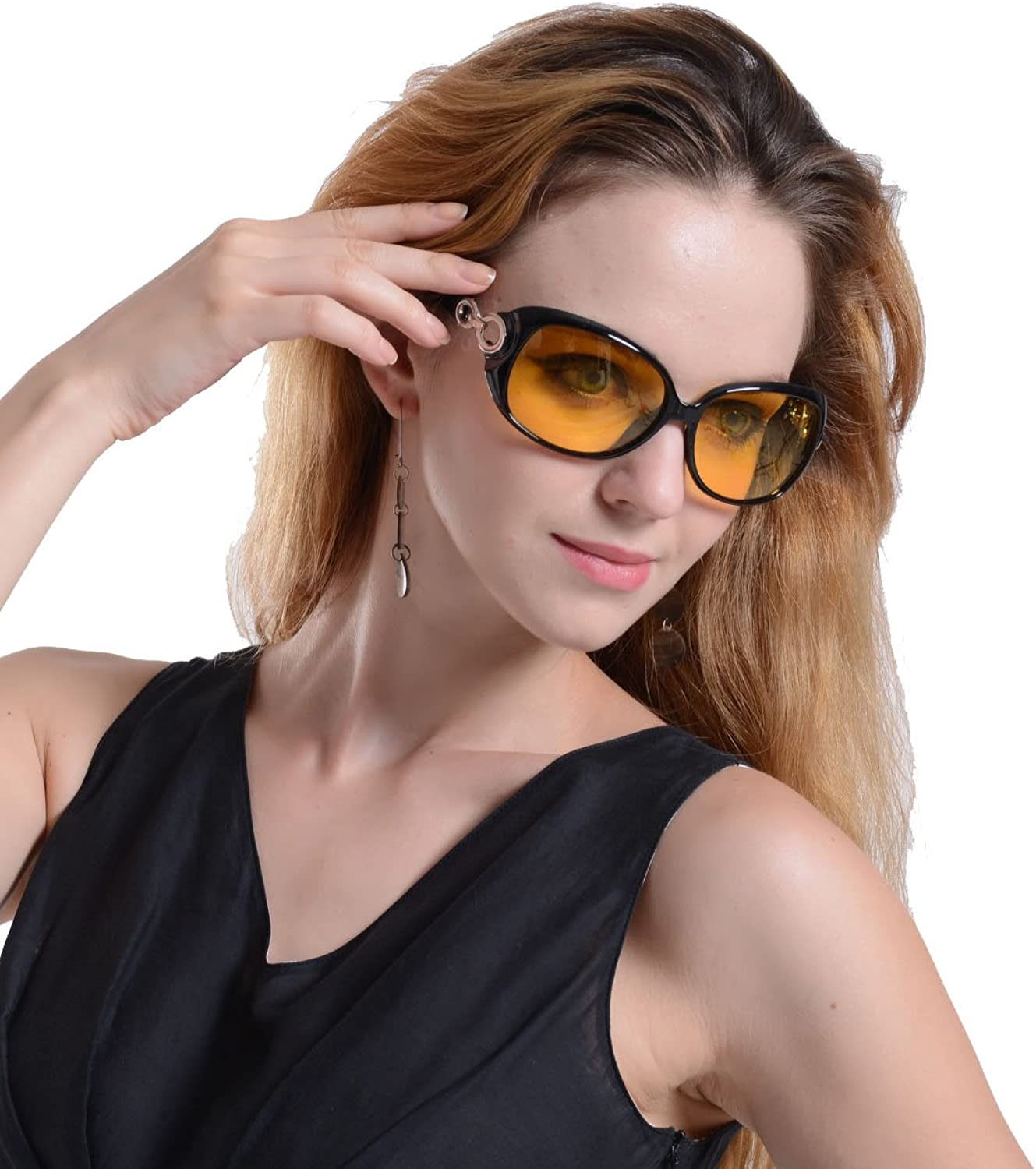 Beison Womens Night Vision Goggles Driving Glasses Polarized Sunglasses