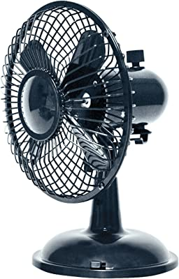 Comfort Zone Oscillating Desk Fan, Black
