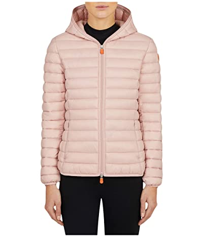 Save the Duck Giga Hooded Jacket (Blush Pink) Women