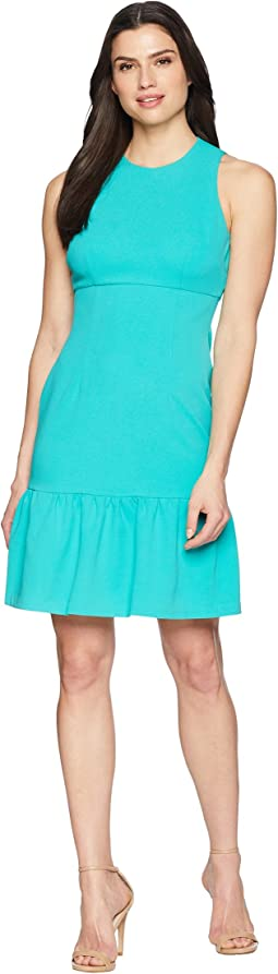 Donna Morgan Crepe Sheath Dress with Flounce