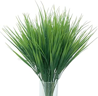JUYO VONSAN Artificial Plants 8pcs Artificial Plastic Wheat Grass for Indoor Outside Home Garden Office Decoration (8)