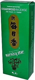 Nippon Kodo - Morning Star - Cedarwood 200 Sticks and Holder