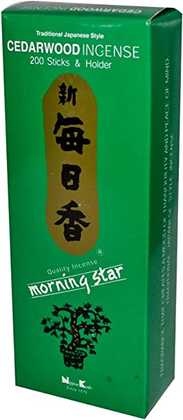 Nippon Kodo Morning Star Cedarwood 200 Sticks And Holder