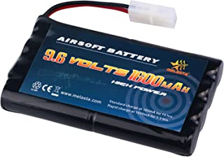 melasta 9.6v AA 1600mAh NiMH Battery Pack with Tamiya Connector for RC Cars Boats RC Gadgets Airsoft Guns