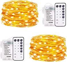Govee String Fairy Lights, 16.4 Feet Remote Fairy Lights 2 Pack, 50 LEDs Waterproof Flexible String Lights Battery Operate...