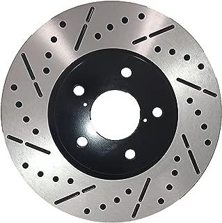[Front E-Coat Drill&Slot Brake Rotors Ceramic Pads] Fit 05 06 Lexus RX330 Canada