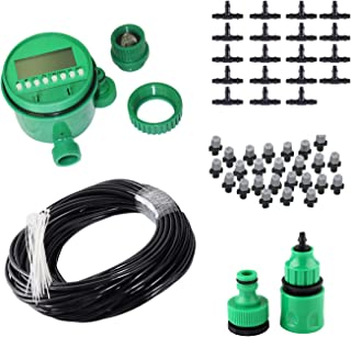 50FT Mist Cooling System with Timer for Outdoor Lawn Patio Garden Greenhouse