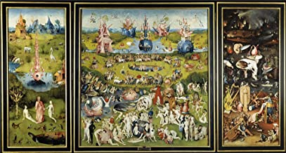 Polyster Canvas ,the High Resolution Art Decorative Prints On Canvas Of Oil Painting 'Bosch Hieronymus The Garden Of Earthly Delights 1500 05 ', 10 X 19 Inch / 25 X 47 Cm Is Best For Bedroom Decor And Home Decoration And Gifts