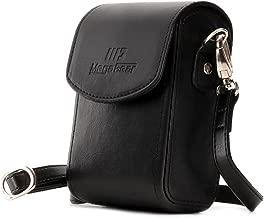 MegaGear Panasonic Lumix DC-ZS200  TZ200  Leica C-Lux Leather Camera Case with Strap Black